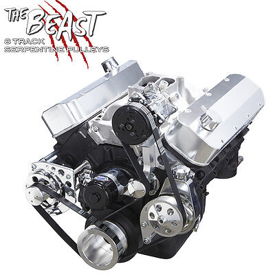 Big Block Chevy Serpentine Kit Air Conditioning Electric WP 396 427 454 AC BBC