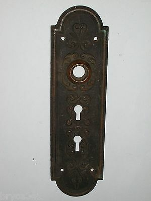 Antique Victorian Era Entry Door Knob Back Plate #61