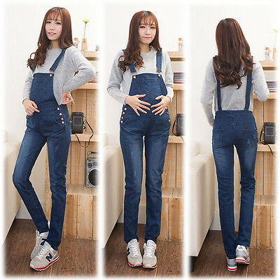 New Overalls Dungarees Jeans Trousers Pants Denim Skinny Trendy Cute 8 10 12 14