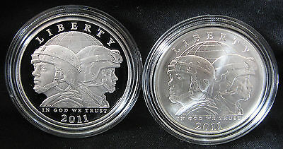 Lot Of 2011-P & S United States Army Commemorative Silver Dollars - 2 USA COINS
