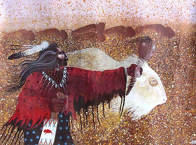 Art-Ethnic:Shaman w/Sacred White Buffalo #32
