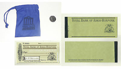 Discworld Stamp Check Book Coin Money Ankh Morpork Half Dollar Cheque Currency