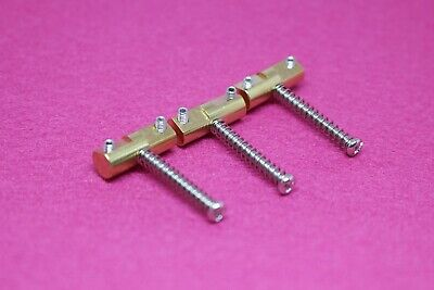 Set of 3 Brass Compensated Saddles For Fender Telecaster Tele