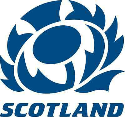 "Scottish Rugby Scotland Car Bumper Sticker 5"" x 5"""