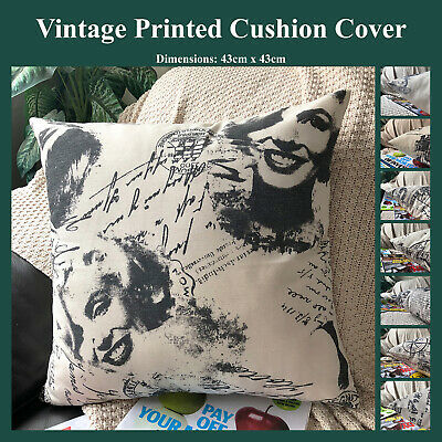 Vintage Style Cotton Blend Cushion Cover in Ongx Natural Throw Pillow Case Home