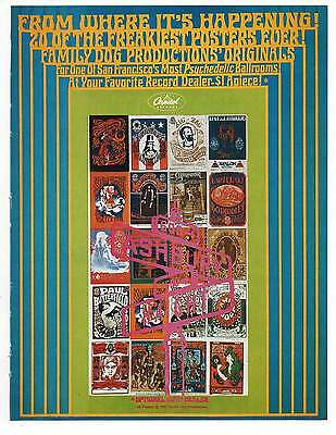 "HIPPY POSTERS AD, Repro 1960's Advertisement Art For Framing, 8.5"" x 6.5"""