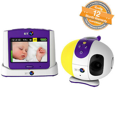 """BT 3.5"""" Colour Touchscreen LCD Display Video Baby Monitor 7500 Lightshow"""