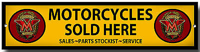 Matchless Motorcycles Sold Here Metal Sign,garage/workshop Sign.classic Bikes.