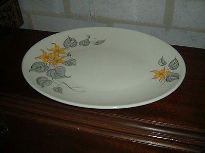 Vintage Knowles ivory ironstone 12 3/4 inch oval platter yellow jasmine flower