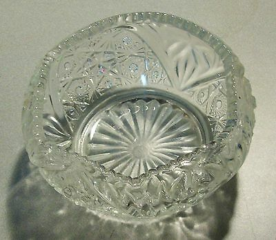 """Antique EAPG Smith Glass Co. Rose Bowl Early """"S G C"""" Mark in Circle"""