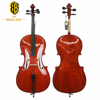 Brillant Cello 4/4 Size Comes with Bag, Bow and Rosin - Premium Student Cello