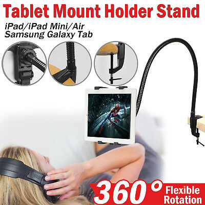 iPad Stand Holder 2 3 4 Air Mini Tablet Mount 360° Rotating Bed Desk Universal