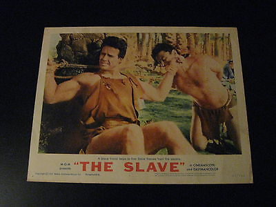 THE SLAVE -The Son of Spartacus, 1963, U.S. lobby card 1, Steve Reeves