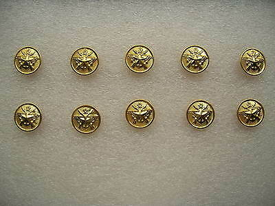 07's series China PLA Army,Navy,Air Force General Metal Buttons,10 Pcs,15mm