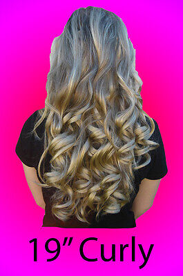 "19"" Curly Long Clip-In Half Extension Piece *Hot HairDo* ~Feels like Human Hair~"