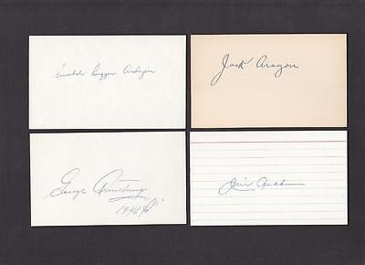 George Armstrong Signed 3X5 Index Card Debut 1946 A's Dec Psa Guarantee