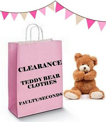 Teddy Bears Clothes FITS Build a Bear CLEARANCE & FAULTY SECONDS Discount Price