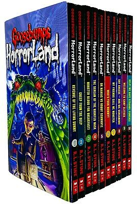 R L Stine Goosebumps Horrorland Series 10 Books Collection Set Creep From Deep