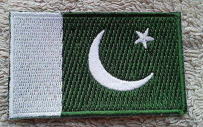 PAKISTAN FLAG PATCH Embroidered Badge Iron or Sew on 4.5cm x 6cm  پاكستان‎ NEW