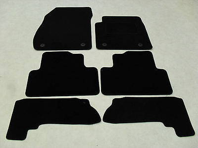 Vauxhall Zafira Tourer 2012-on Fully Tailored Deluxe Car Mats in Black - 6 Piece