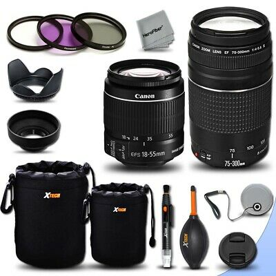 Canon EF 75-300mm f/4-5.6 III + 18-55mm f/3.5-5.6 III For Canon EOS Rebel SL1
