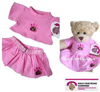 Teddy Bear Clothes fits Build a Bears Teddies PINK PAW Skirt Outfit Clothing