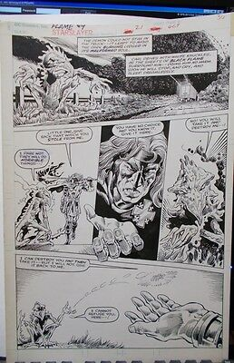Starslayer #21 page 6 ( BLACK FLAME) by Tom Sutton and Don Lomax (First, 1985)