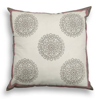 Reason Samudra Cotton Square Pillowcase in French Grey (A78-H2P)