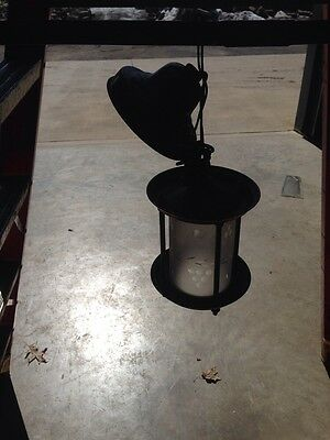 Antique Brass Pendant Light 8 Inches High