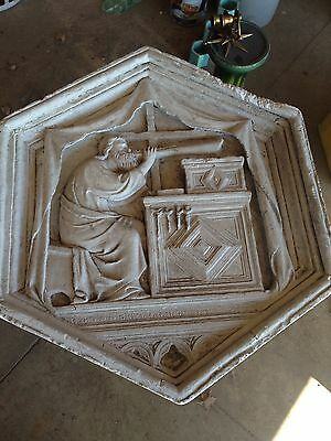Antique 30 Inch Plaster Wall Medallion Figural