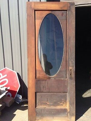 Danny 37 Antique Oval Entrance Door Pine