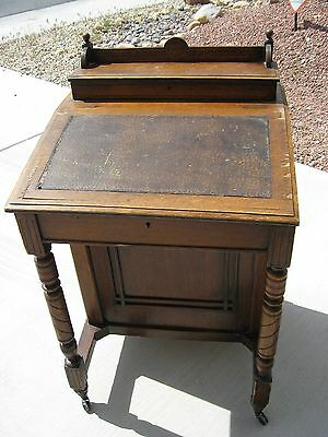 Antique 1800's Davenport Desk Ship's Captain Desk Victorian Style
