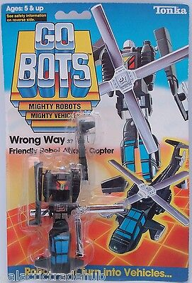 Gobots WRONG WAY vintage 1980s tonka go bots MR-41 apache army helicopter moc