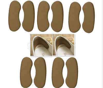 5Pairs New Fabric Sticky Gel Back Heel Grip Liner Shoe Insert Pad Cushion Insole