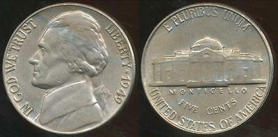 United States, 1949 5 Cents, Jefferson Nickel - Uncirculated