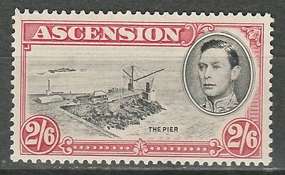 Ascension 1938 Kgvi Pictorial 2/6 Mnh ** Perf 13.5
