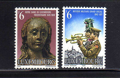 LUXEMBURGO/LUXEMBOURG 1978 MNH SC.612/613 Our Lady of Lux.and Military Band