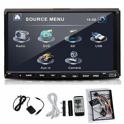 """Double 2 Din 7"""" Car DVD CD MP3 Player Touch In Dash Stereo Radio free camera CA"""