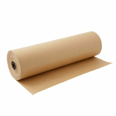 """5 5m x 600mm 24"""" 24  STRONG BROWN KRAFT WRAPPING PAPER 90gsm roll heavy duty"""