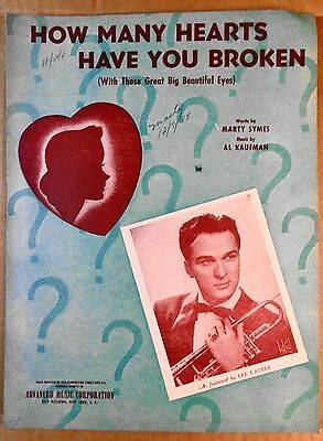 1943 Sheet Music - HOW MANY HEARTS HAVE YOU BROKEN - LEE CASTLE photo