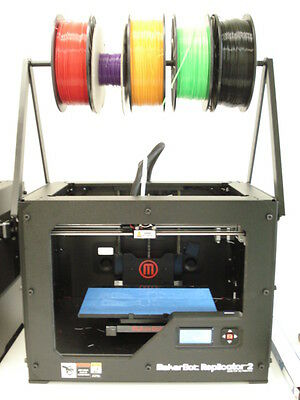 Makerbot Replicator 2 Overhead Spool Holder. Change material Super Fast & Easy!