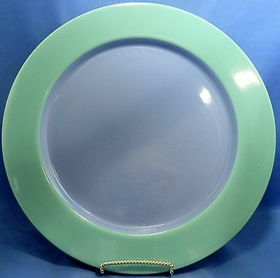 Lindt-Stymeist California Colorways Dinner Plate Green rim Blue Center AS IS