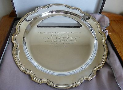 """13"""" Engraved Tiffany & Co. Sterling Silver Serving Tray  # 20350"""