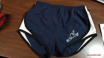 Peace Frogs Large Youth Athletic Short Navy Blue