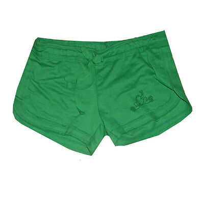 Peace Frogs Medium Youth Fleece Shorts Green