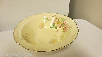 Vtg T S T USA Mkd (Taylor Smith Taylor) 1930's Wild Rose Round Vegetable Bowl