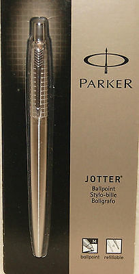 Parker Jotter Premium Chiseled Stainless Steel Ballpoint Pen - Black Ink