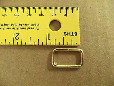 "#4950 Brass Plated Steel Loops / Strap Keepers 3/4"" - 1"" (Pack Of 50)"