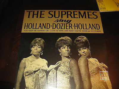 The Supremes Sing Holland Dozier holland    on LP