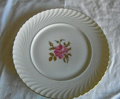 Royal Bayreuth German US Zone Floral gold rose Fine China Plate made in Germany